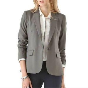 BNWT THEORY Virgin Wool Tailor Blazer Sz 00 Grey